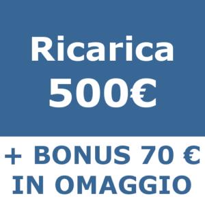 ricarica 500 Catastofast