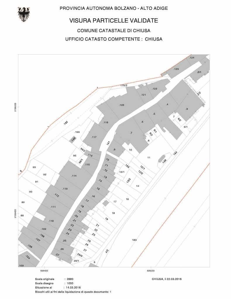 estratto di mappa tavolare